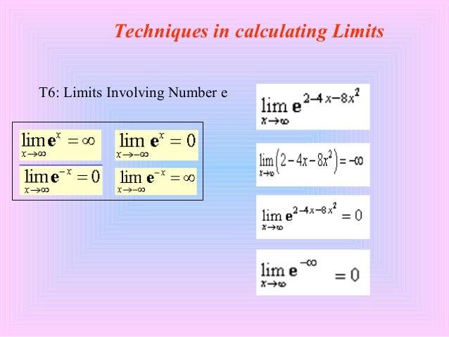 T5: Trigonometric Limits Techniques in calculating Limits; 13.