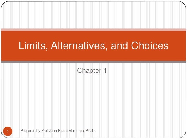 chapter 1 limits alternatives and choices test answers