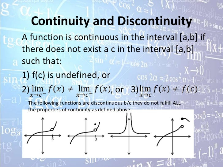how to find continuity of a function calculus