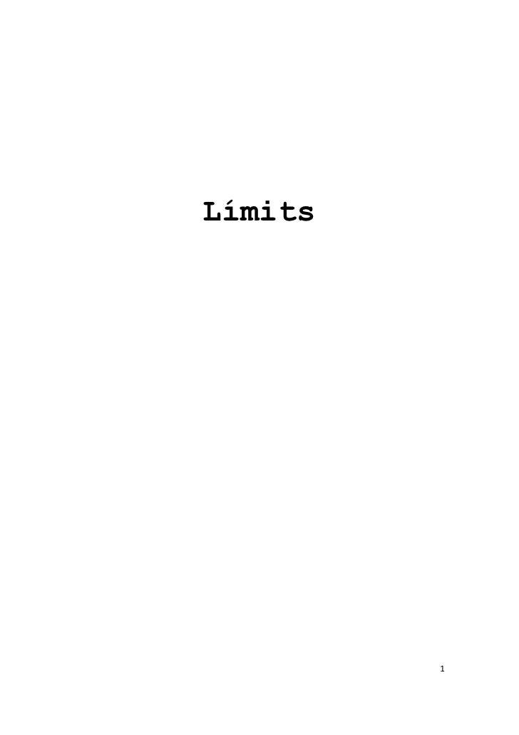 Límits         1