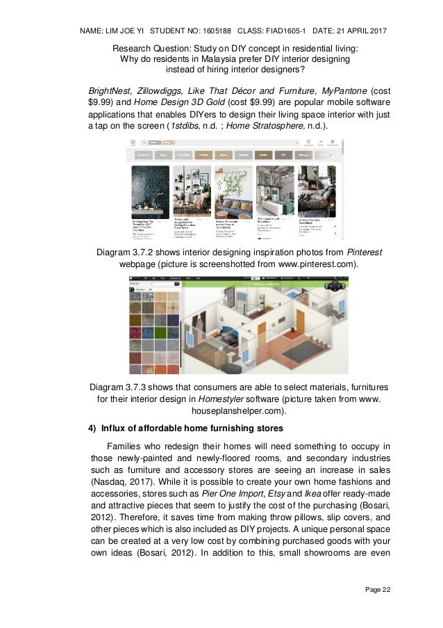 Design Research Study On DIY Do It Yourself Concept In Residential