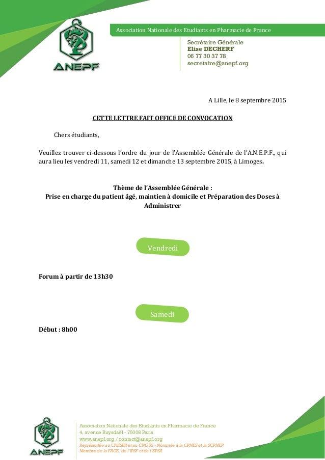 Association Nationale des Etudiants en Pharmacie de France Association Nationale des Etudiants en Pharmacie de France 4, a...