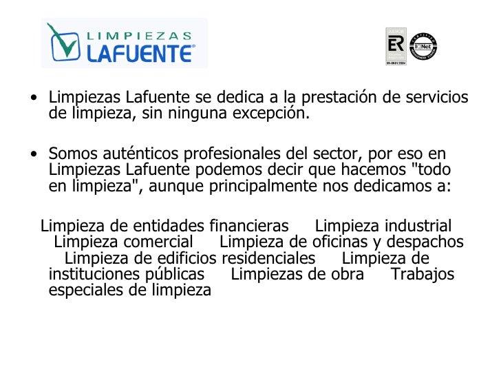 Limpiezas lafuente empresa de limpieza en valencia for Empresas de limpieza en castellon