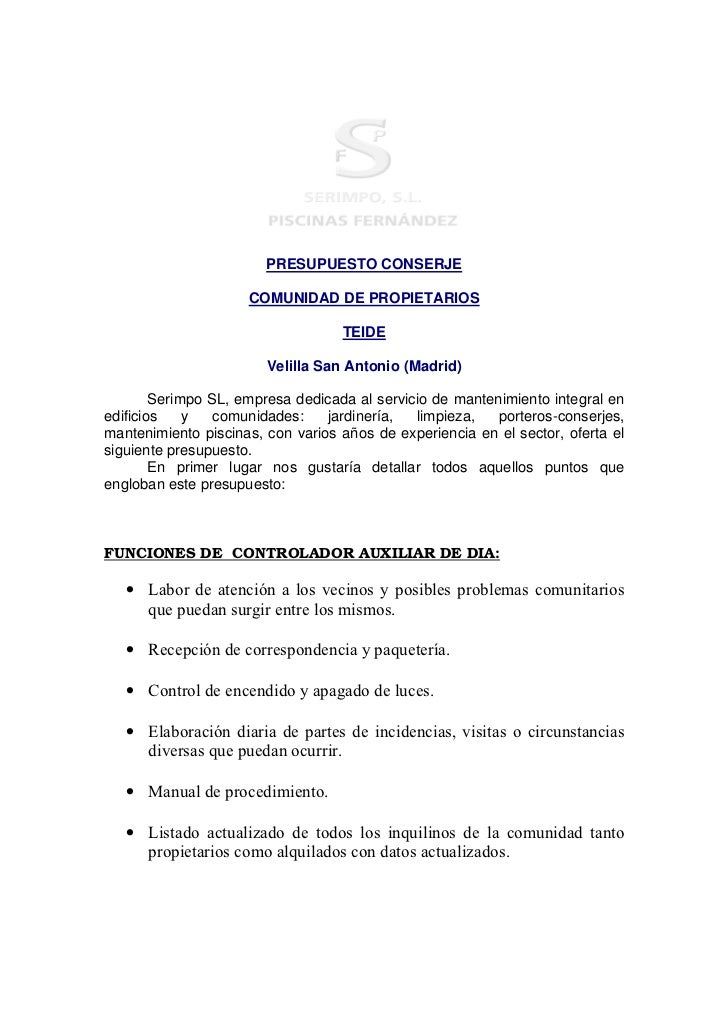 Limpiezas piscinas fdez for Mantenimiento piscinas pdf