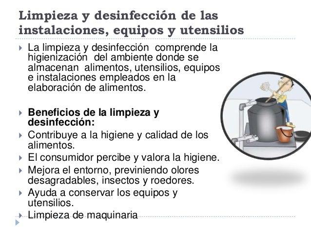 Limpieza y desinfecci n de las instalaciones equipos for Manual de limpieza y desinfeccion en industria alimentaria
