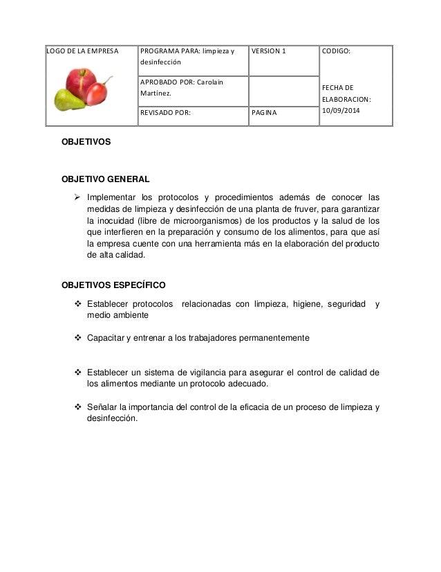 Limpieza y desinfeccion for Limpieza y desinfeccion de alimentos