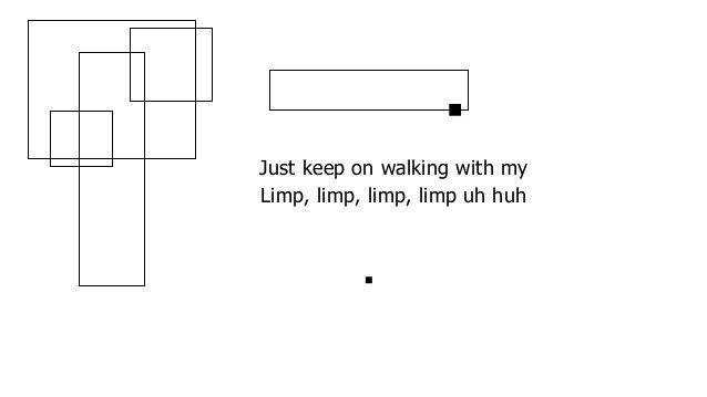 Just keep on walking with my Limp, limp, limp, limp uh huh