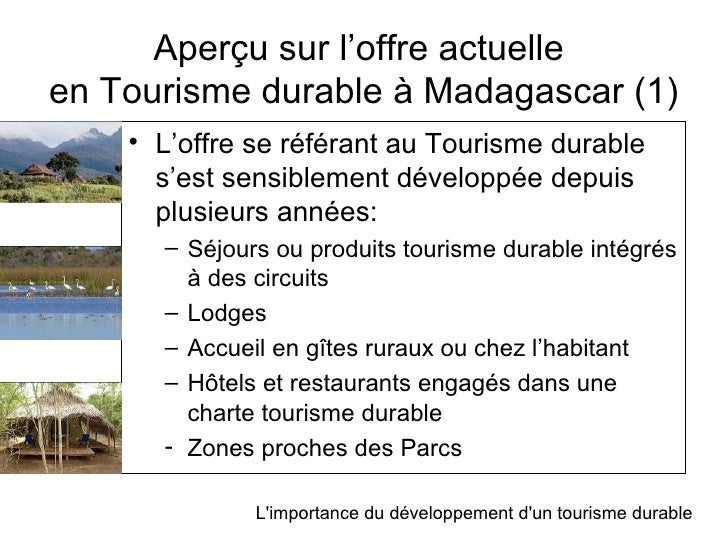 L 39 importance du d veloppement d 39 un tourisme durable madagascar - Office national du tourisme madagascar ...