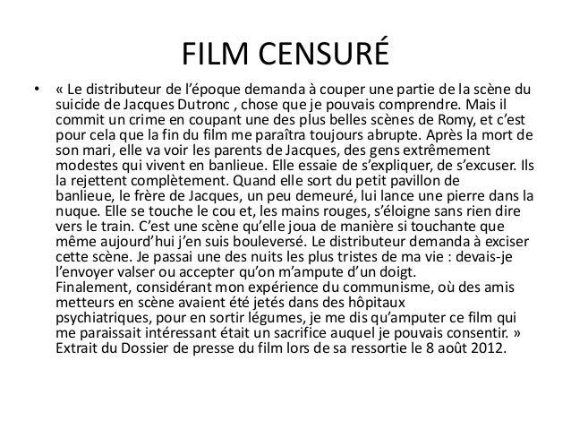 CRITIQUES • Si le film offre une réflexion sur le cinéma et le théâtre, c'est avant tout - comme tous les films de Zulawsk...