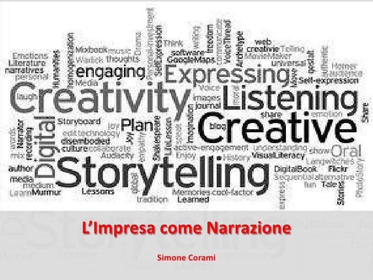 L'Impresa come Narrazione         Simone Corami