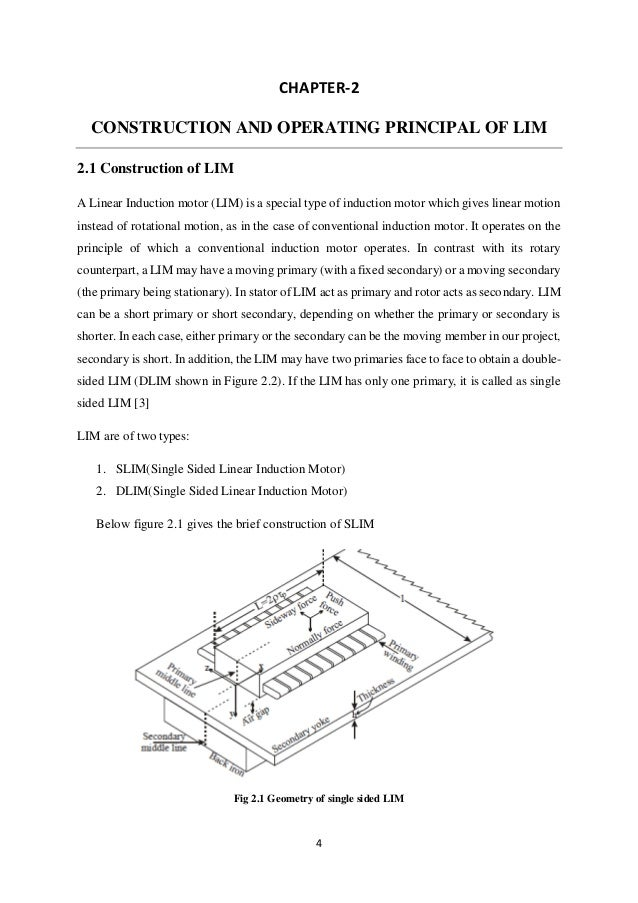Linear Induction Motor Electric Trains Based On Magnetic