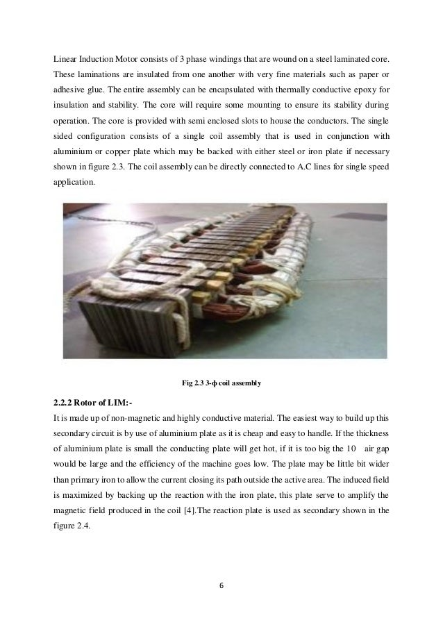 Linear induction motor electric trains based on magnetic for Linear induction motor winding