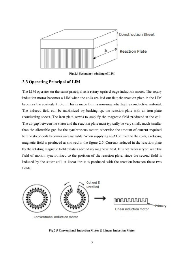 Linear induction motor winding for Linear induction motor winding