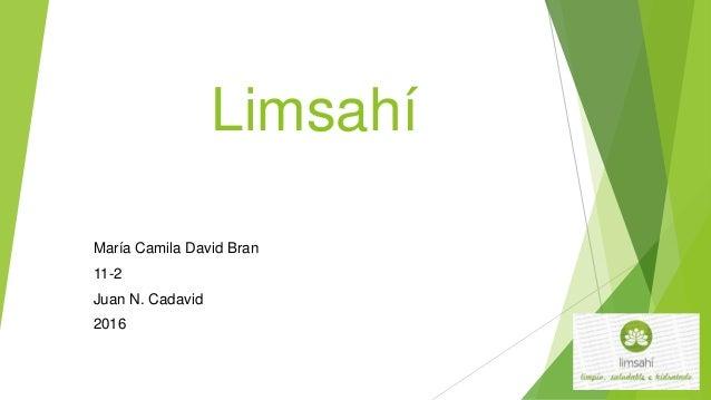 Limsahí María Camila David Bran 11-2 Juan N. Cadavid 2016
