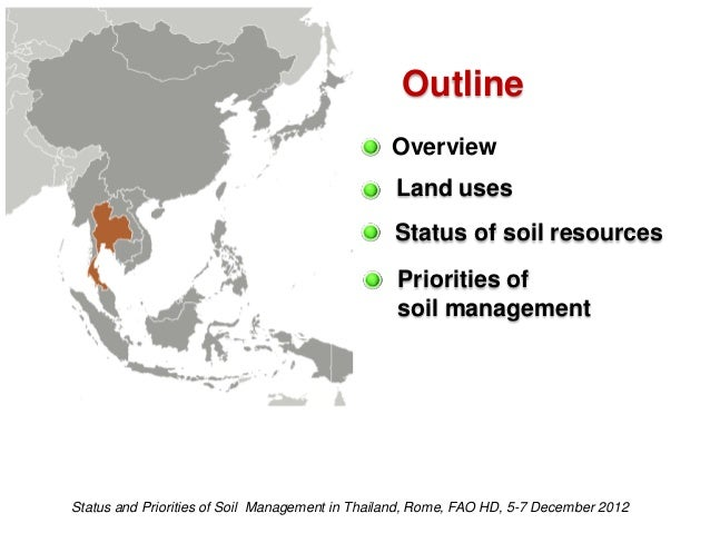 Status and priorities of soil management in thailand for Soil resources wikipedia