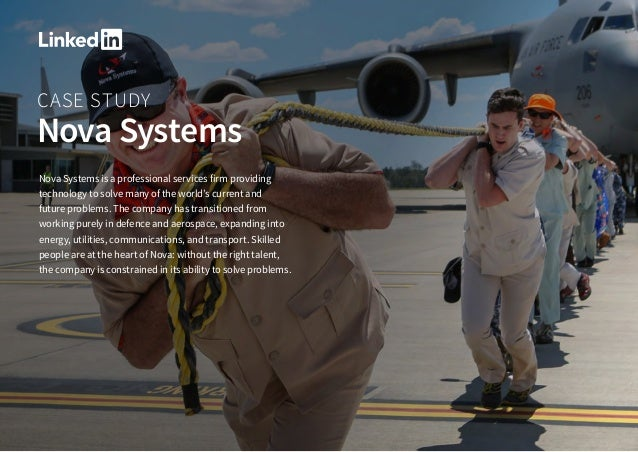CASE STUDY Nova Systems Nova Systems is a professional services firm providing technology to solve many of the world's cur...