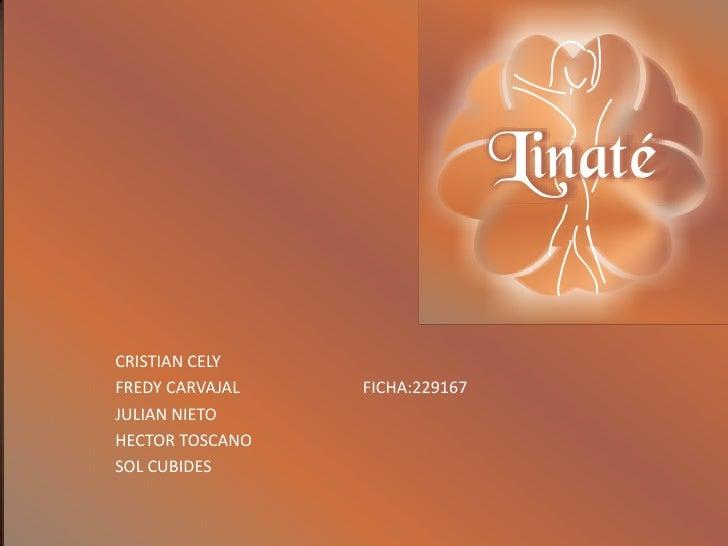 CRISTIAN CELY<br />FREDY CARVAJAL<br />JULIAN NIETO<br />HECTOR TOSCANO           <br />SOL CUBIDES<br />FICHA:229167<br />