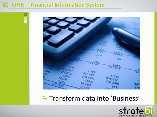 SIFIN – Financial Information Systemç Transform data into 'Business'