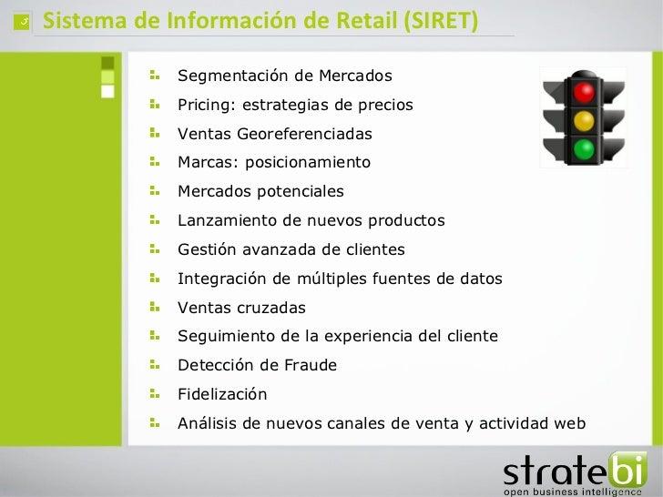 ç   Sistema de Información de Retail (SIRET)                Segmentación de Mercados                Pricing: estrategias d...