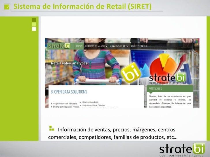 ç   Sistema de Información de Retail (SIRET)                 Información de ventas, precios, márgenes, centros            ...