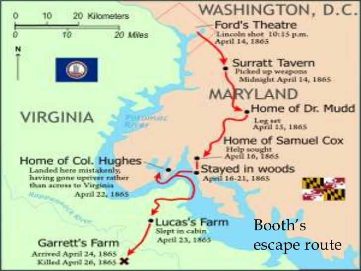 John Wilkes Booth Escape Route