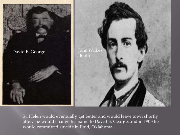 Image result for John Wilkes Booth and David E. George