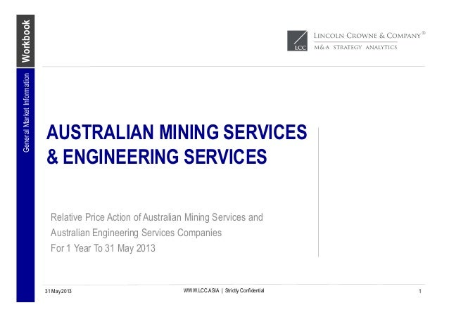 WorkbookWWW.LCC.ASIA | Strictly ConfidentialAUSTRALIAN MINING SERVICES& ENGINEERING SERVICESRelative Price Action of Austr...