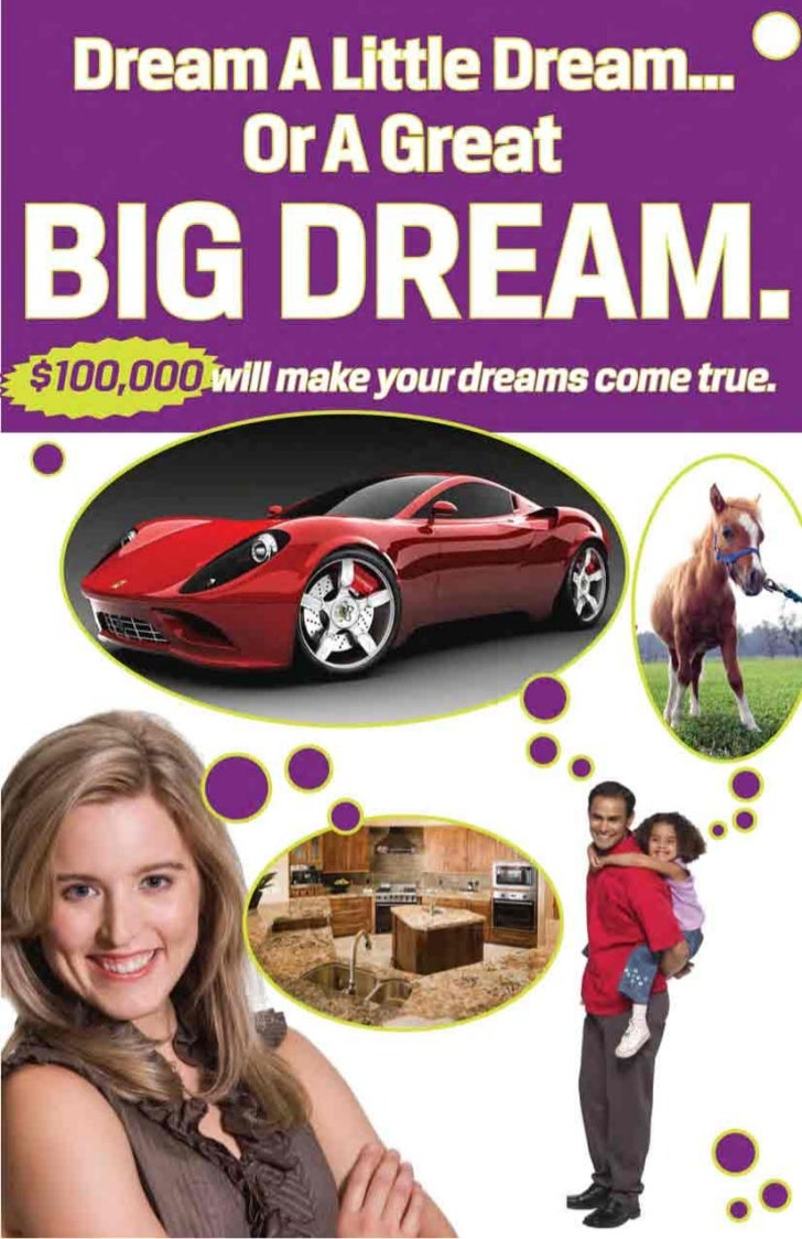 Purchase your $100 Dream Ticket at www.dreamraffle.org, call 815-462-2900 $100,000 will make your dreams come true.       ...