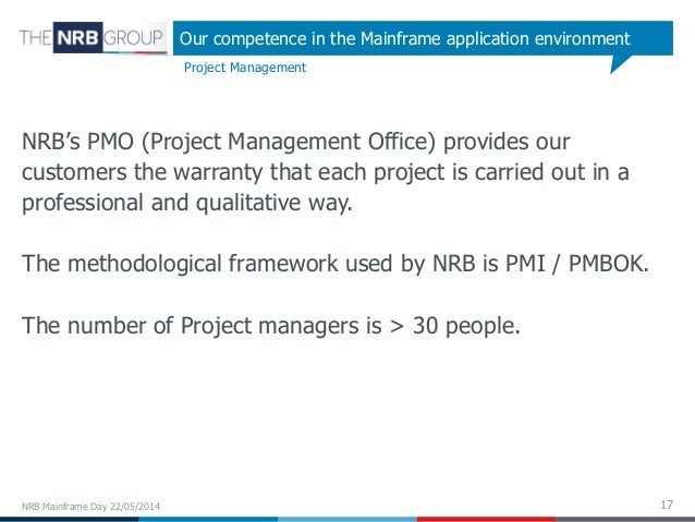 Development and Third Party Maintenance for the IBM Mainframe L De – Mainframe Project Manager