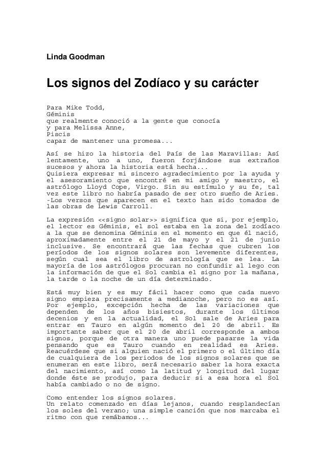 Linda goodman los signos del zodiaco y su car cter - Orden de los signos zodiacales ...