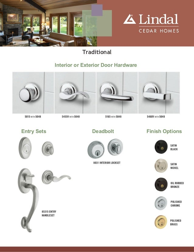 Traditional Interior or Exterior Door Hardware Entry Sets Deadbolt Finish Options