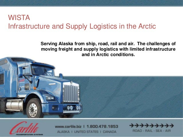 allServing Alaska from ship, road, rail and air. The challenges ofmoving freight and supply logistics with limited infrast...
