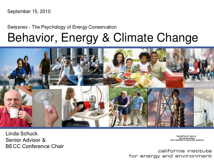 The Psychology of Energy Conservation: Are You Smarter Than A Refrigerator? - Linda Shuck