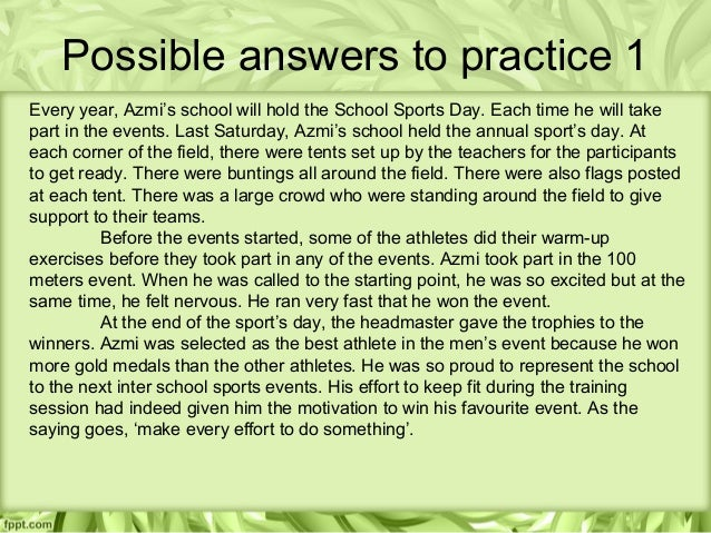 sports day essay for spm