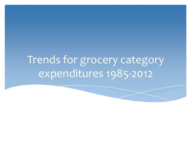 Trends for grocery category expenditures 1985-2012