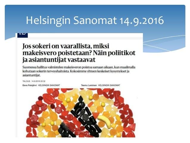 Helsingin Sanomat 14.9.2016