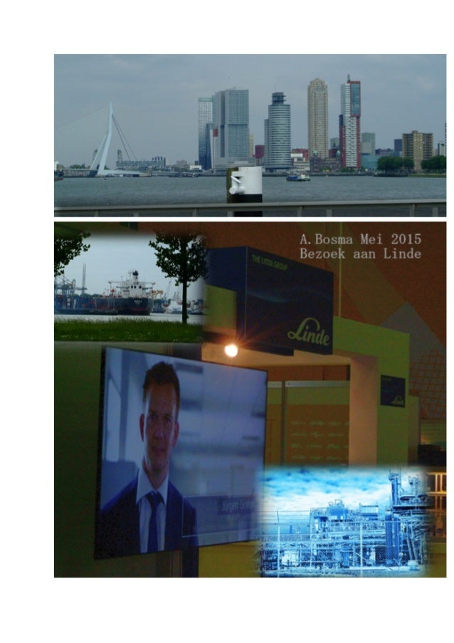 Waterstofgas Linde stand visit Rotterdam, NL may 2015