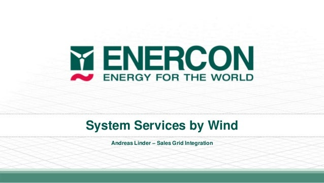 System Services by Wind Andreas Linder – Sales Grid Integration