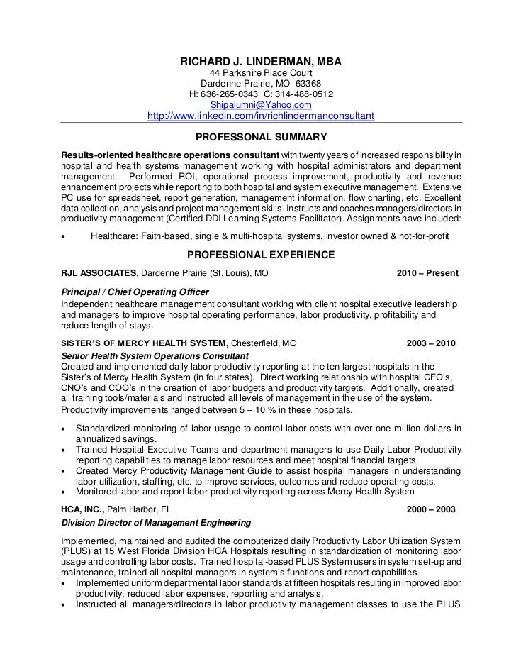 linderman richard resume