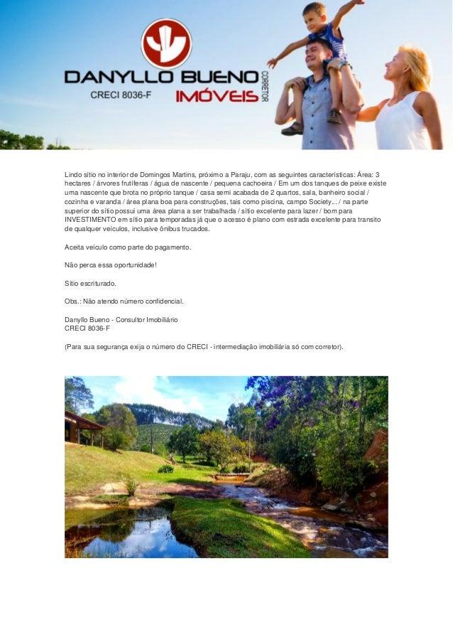 Lindo sítio no interior de Domingos Martins, próximo a Paraju, com as seguintes características: Área: 3 hectares / árvore...