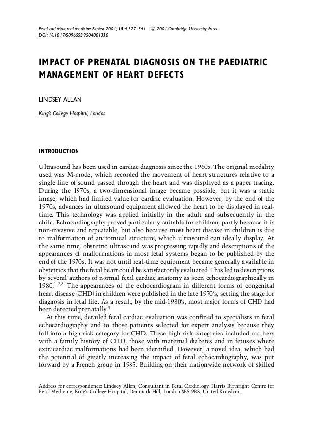 Fetal and Maternal Medicine Review 2004; 15:4 327–341 C 2004 Cambridge University Press DOI: 10.1017/S0965539504001330 IMP...