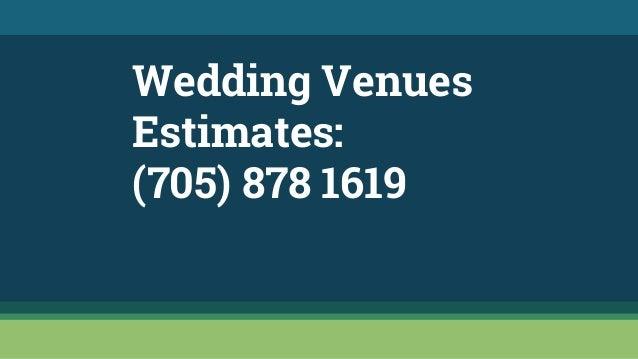 lindsay ontario wedding venues 705 878 1619