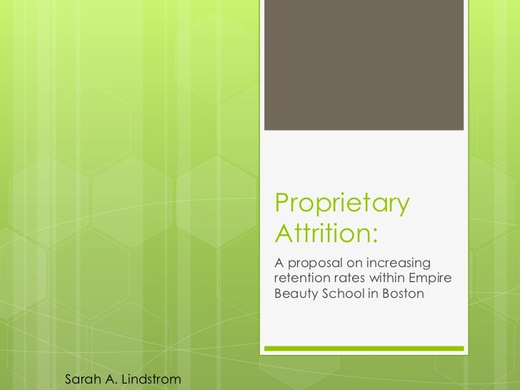 Proprietary                     Attrition:                     A proposal on increasing                     retention rate...
