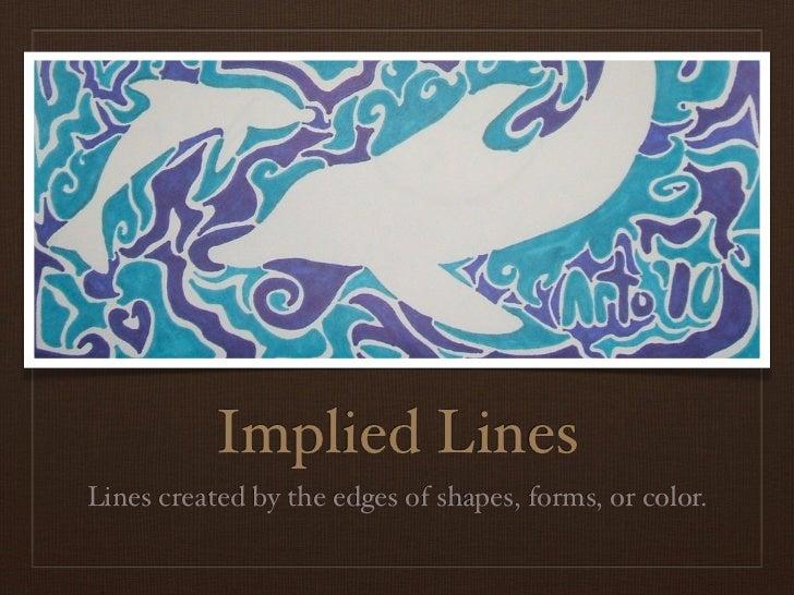 Implied Lines In Art : Line
