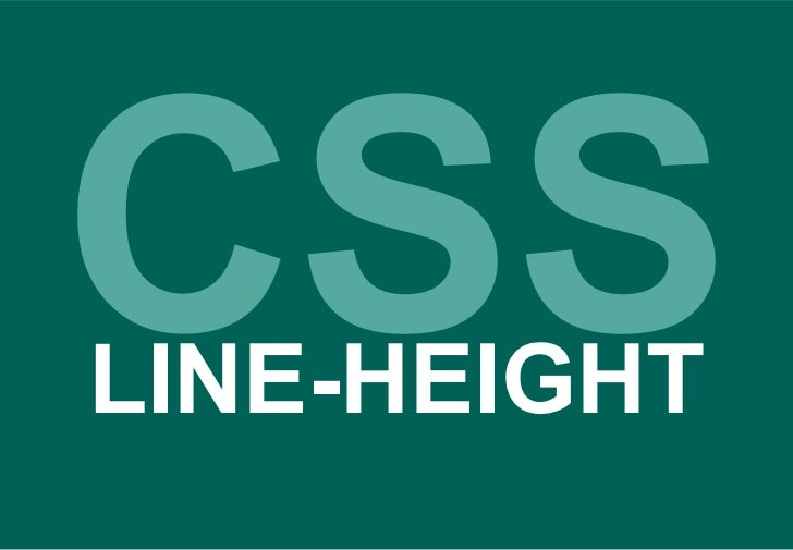 CSS LINE-HEIGHT