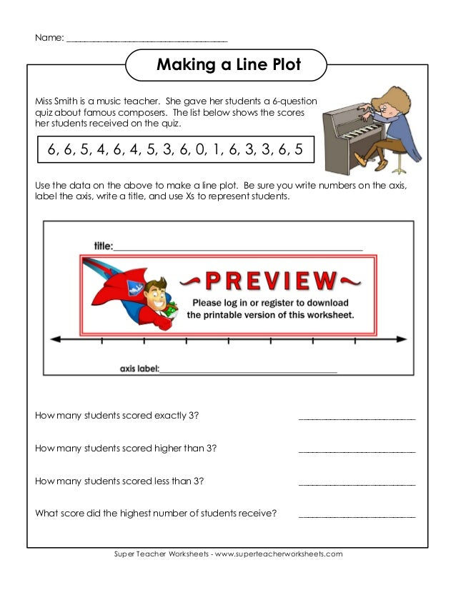 Making A Line Plot Worksheet Delibertad – Line Plot Worksheets