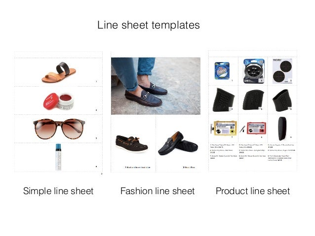 Line sheet templates for Clothing line sheet template