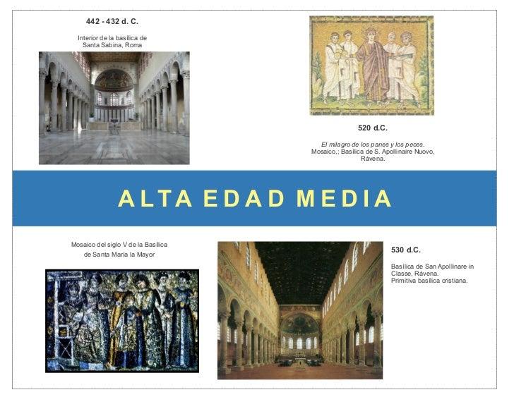 442 - 432 d. C.  Interior de la basílica de    Santa Sabina, Roma                                                     520 ...