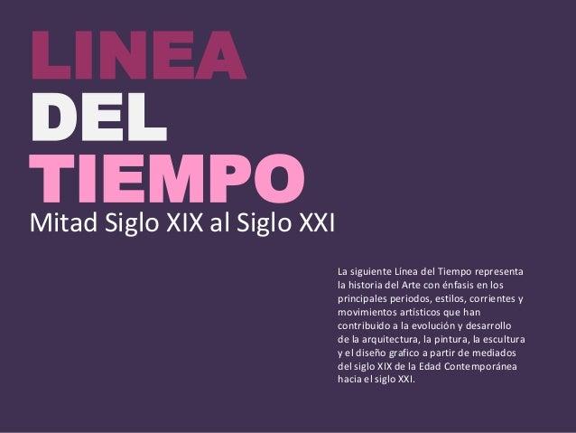 Linea del tiempo siglo xix xx y xxi for Diseno de interiores siglo xix