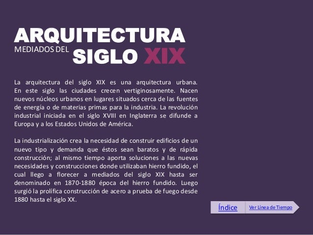 Linea del tiempo siglo xix xx y xxi for Cual es el significado de arquitectura